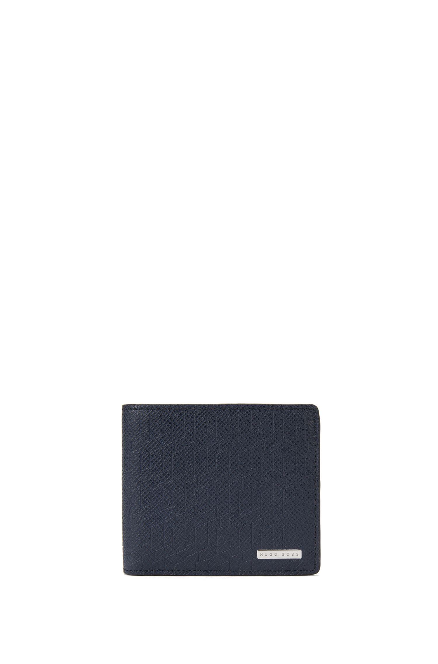 Portafoglio bi-fold della collezione Signature in pelle palmellata