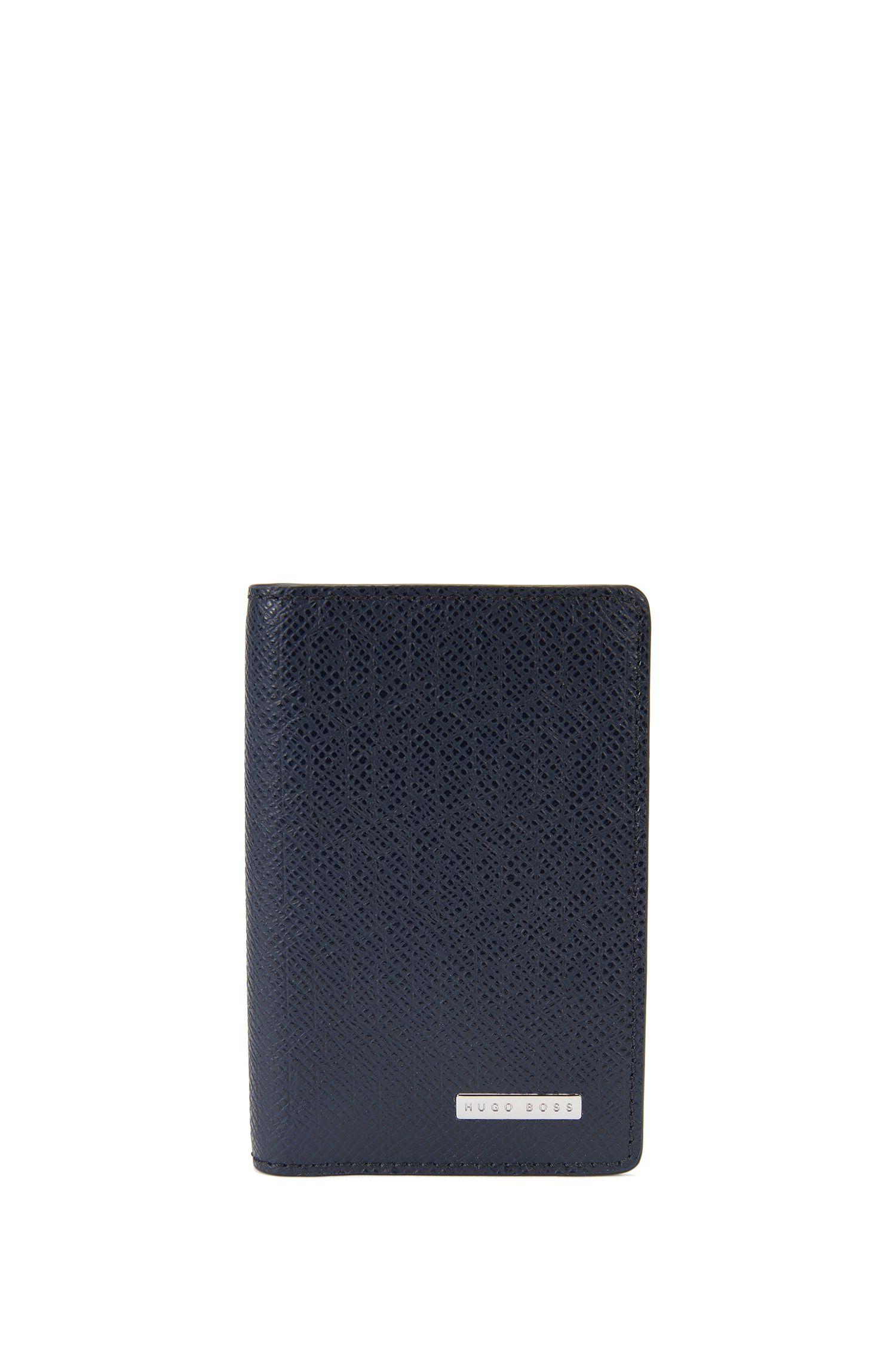 Portafoglio verticale ripiegabile Signature Holiday Edition in pelle palmellata
