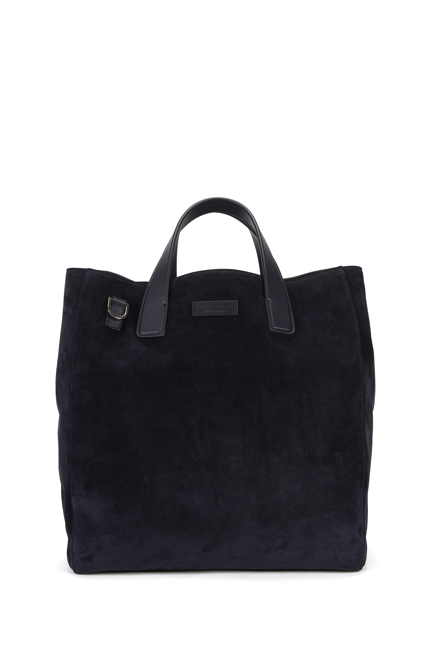 Tote Bag aus Veloursleder mit abnehmbarem Schulterriemen