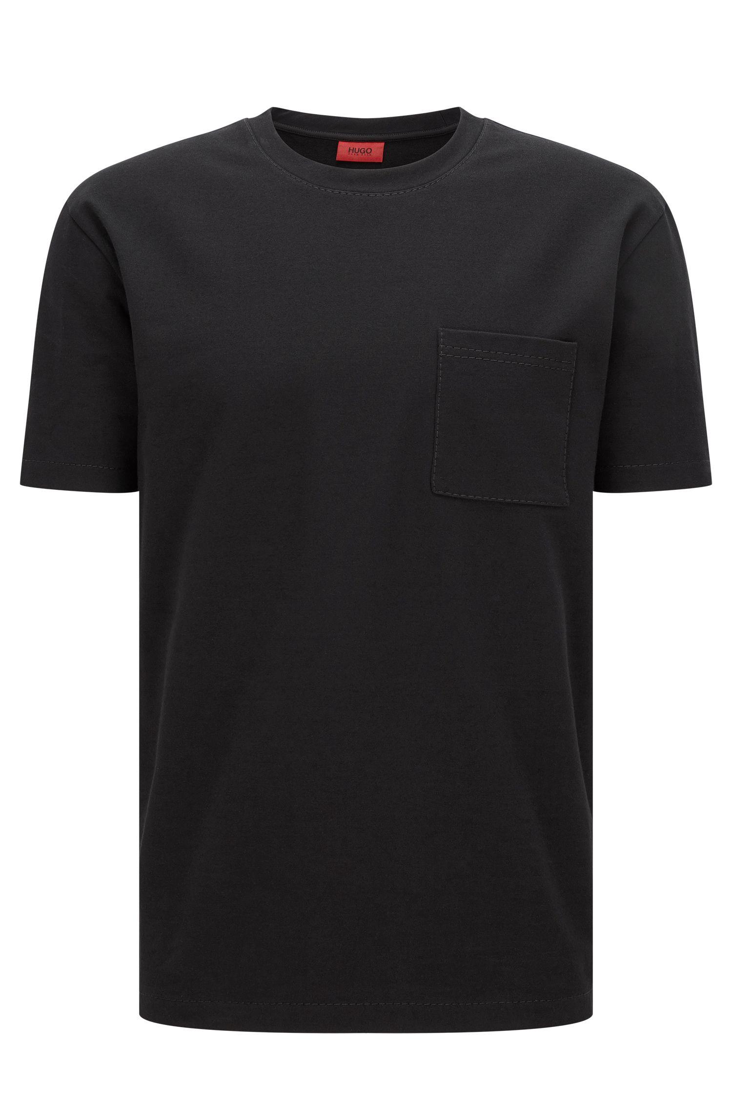 T-shirt con cuciture a vista in morbida french terry