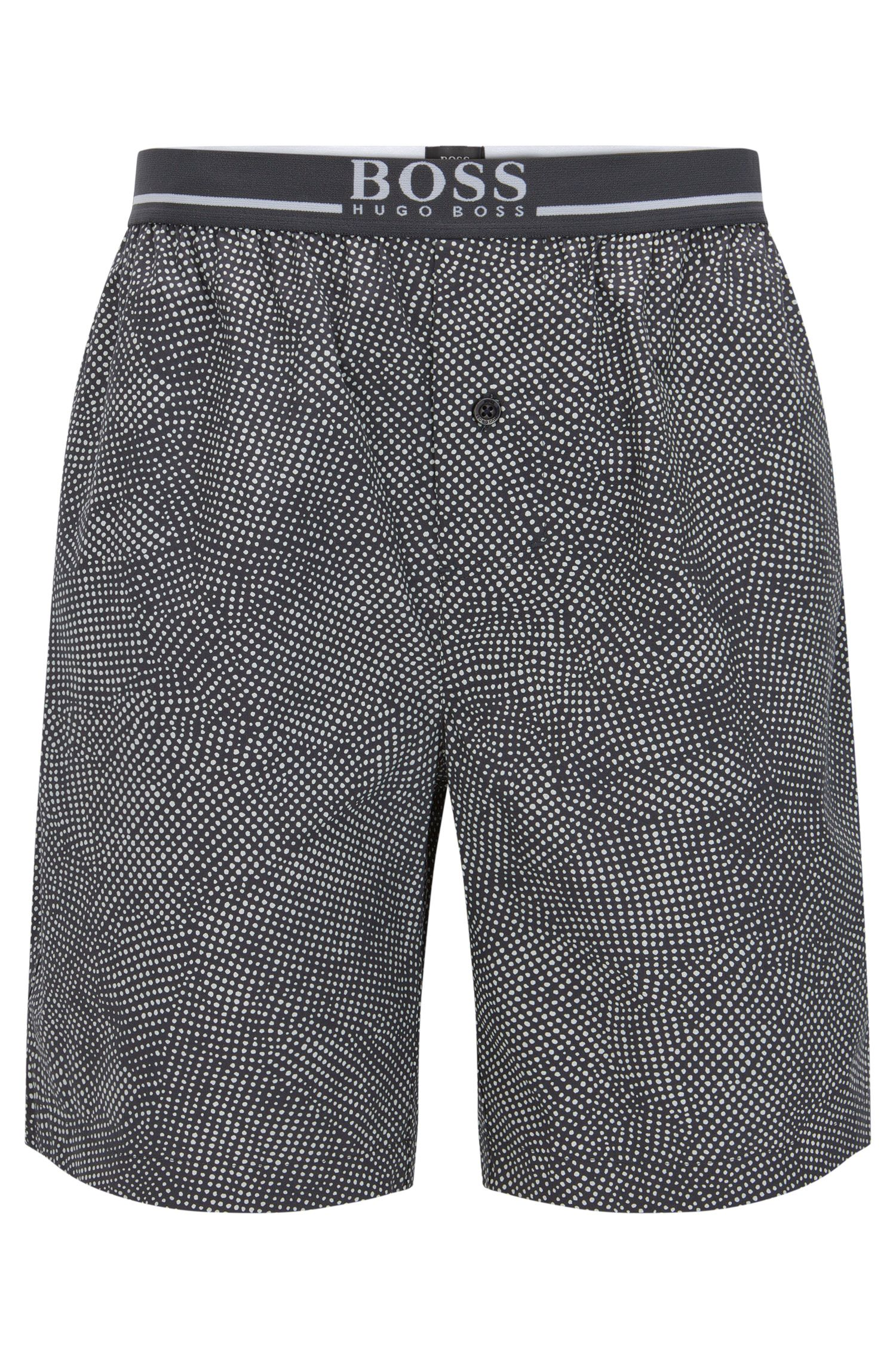 Pyjama shorts in cotton with exposed waistband