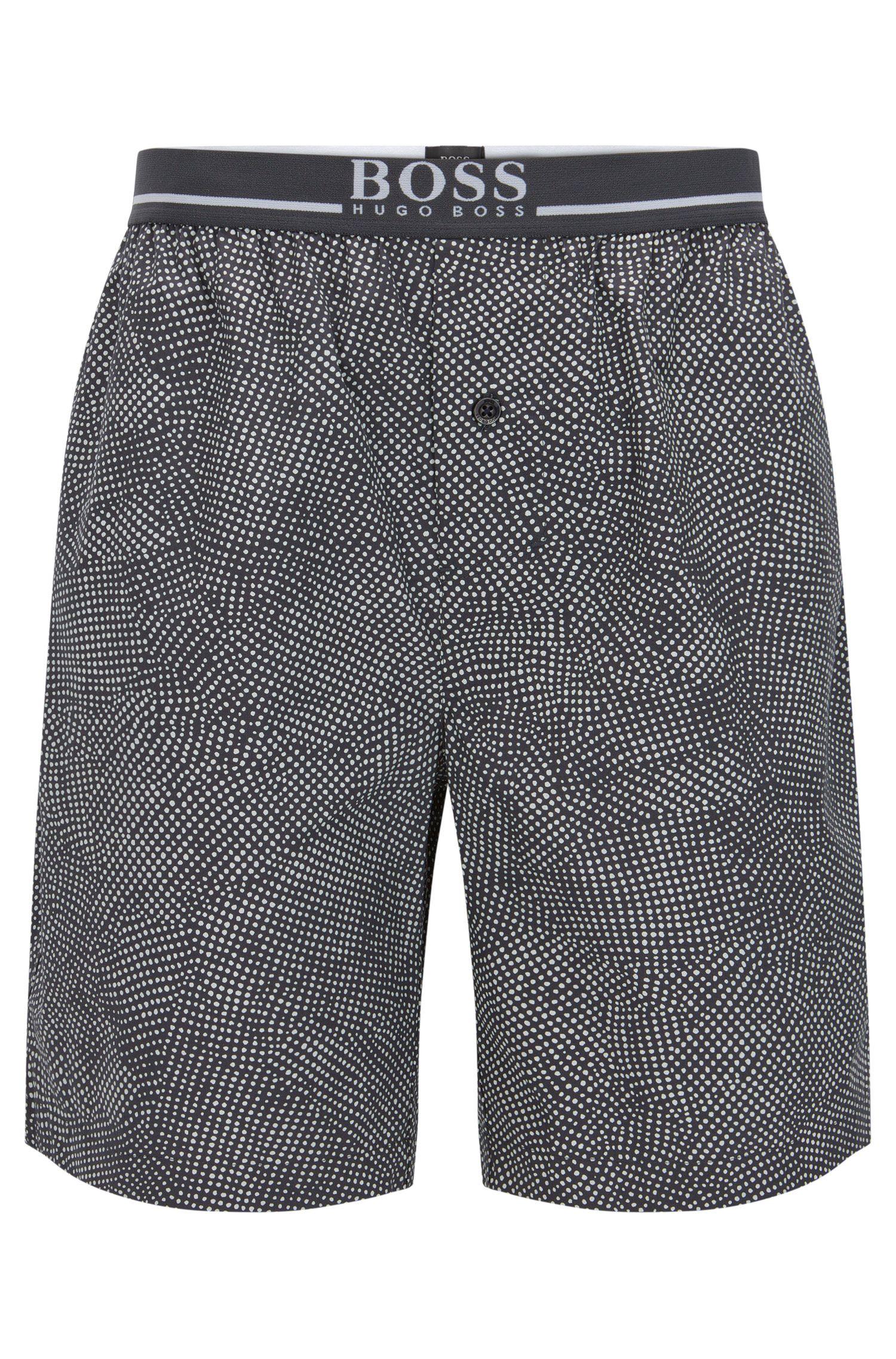 Pyjamashort van katoen met zichtbare tailleband