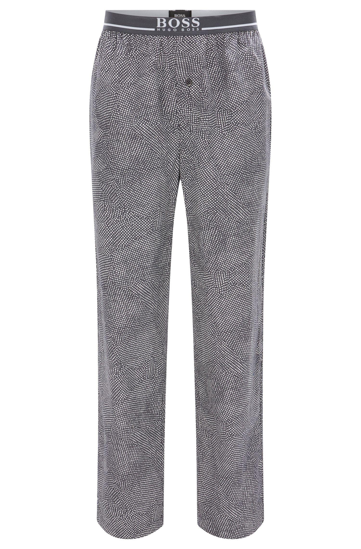 Pantalón de pijama en algodón con cintura expuesta