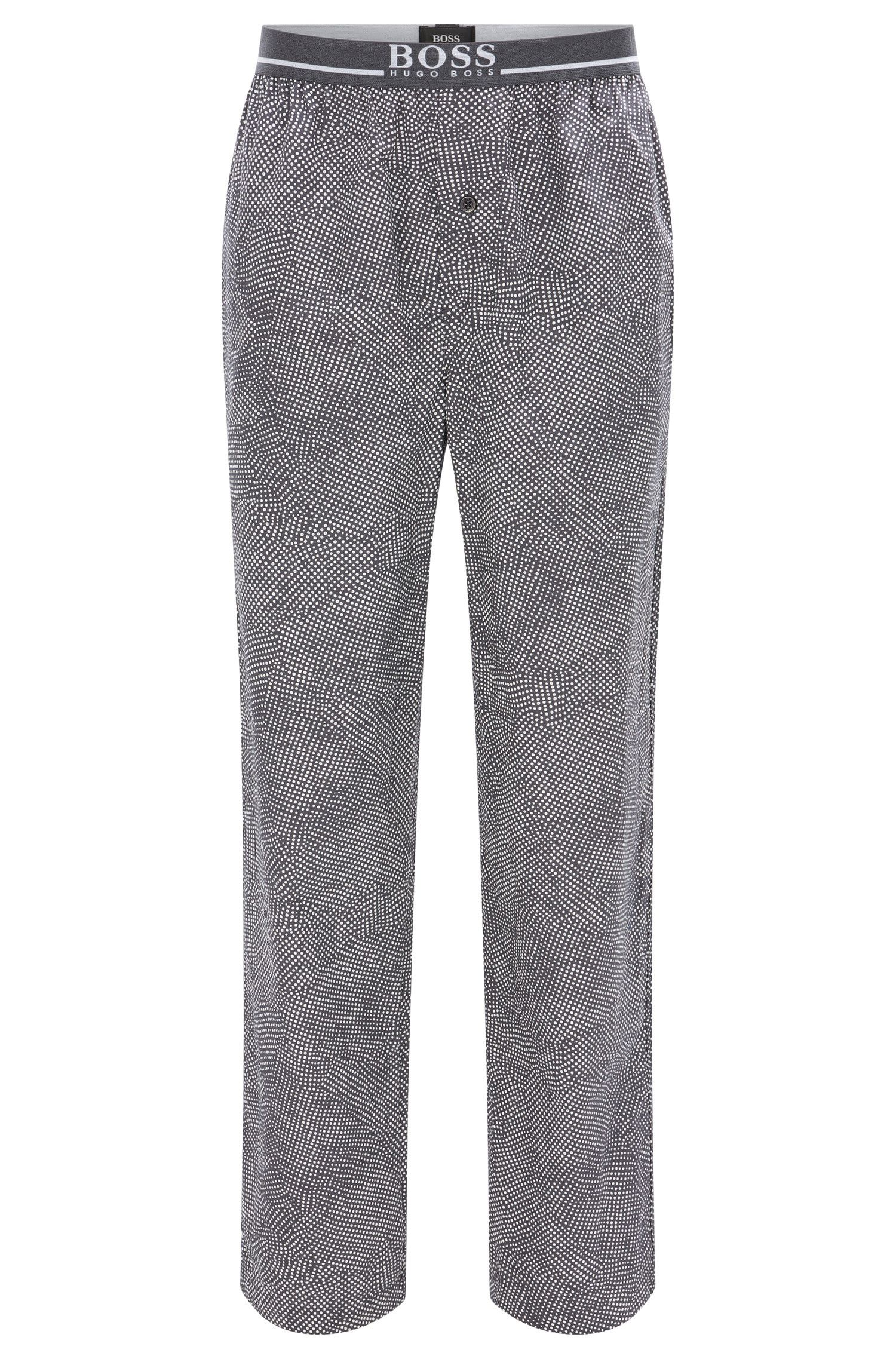 Pyjama bottoms in cotton with exposed waistband
