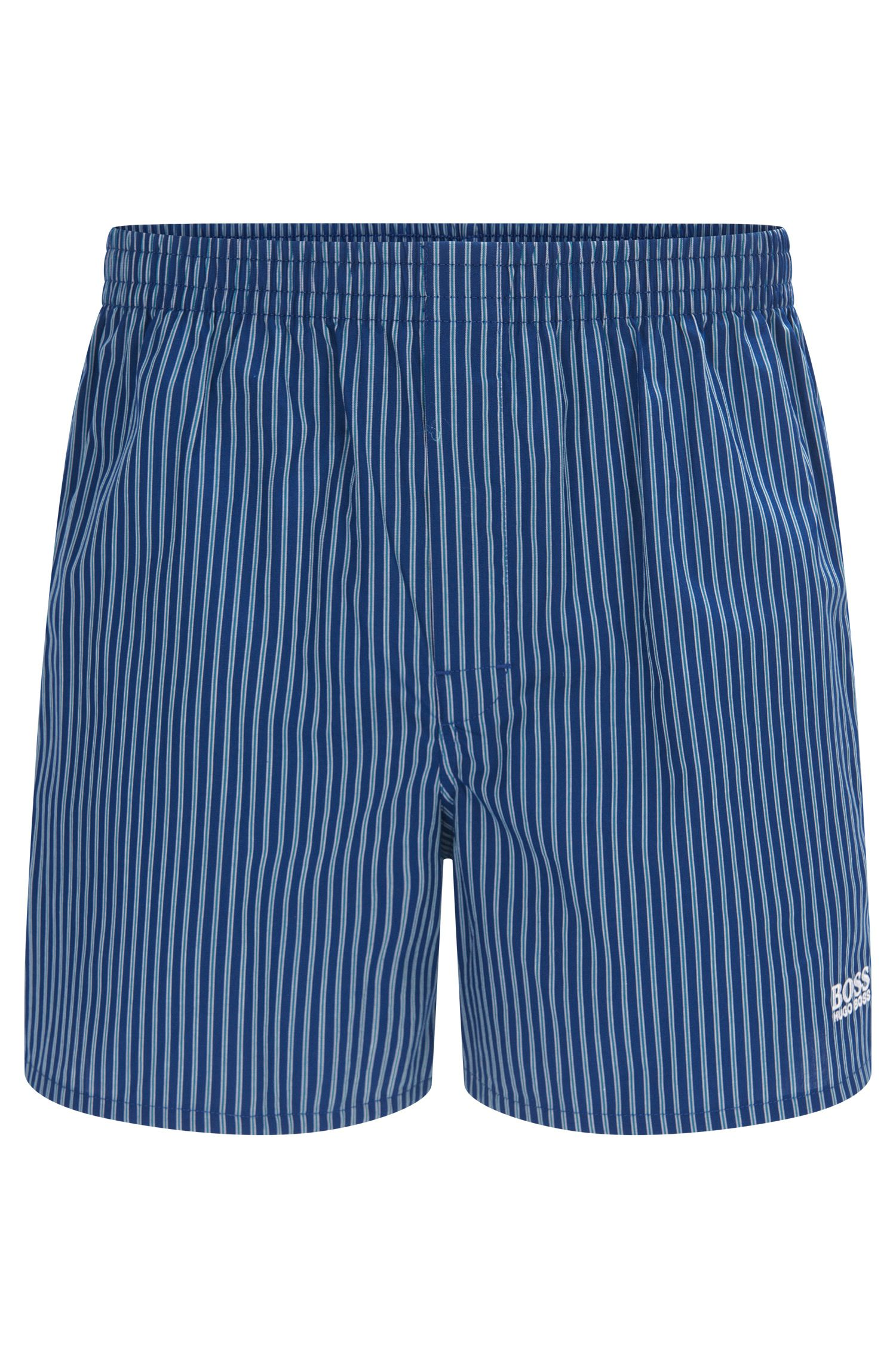 Boxer shorts in cotton with vertical stripes