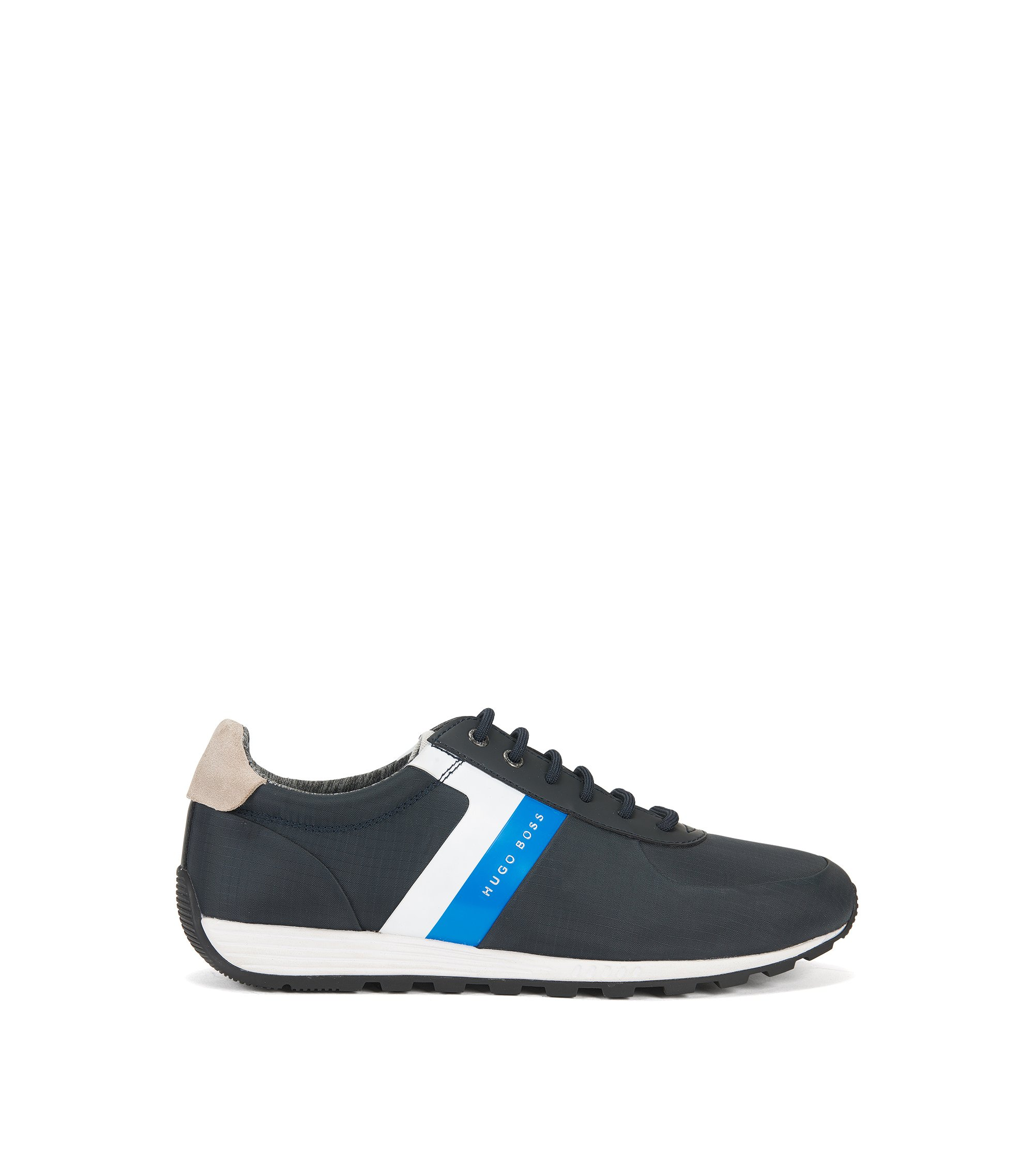 Sneakers in retrostijl met Strobel-constructie, Donkerblauw