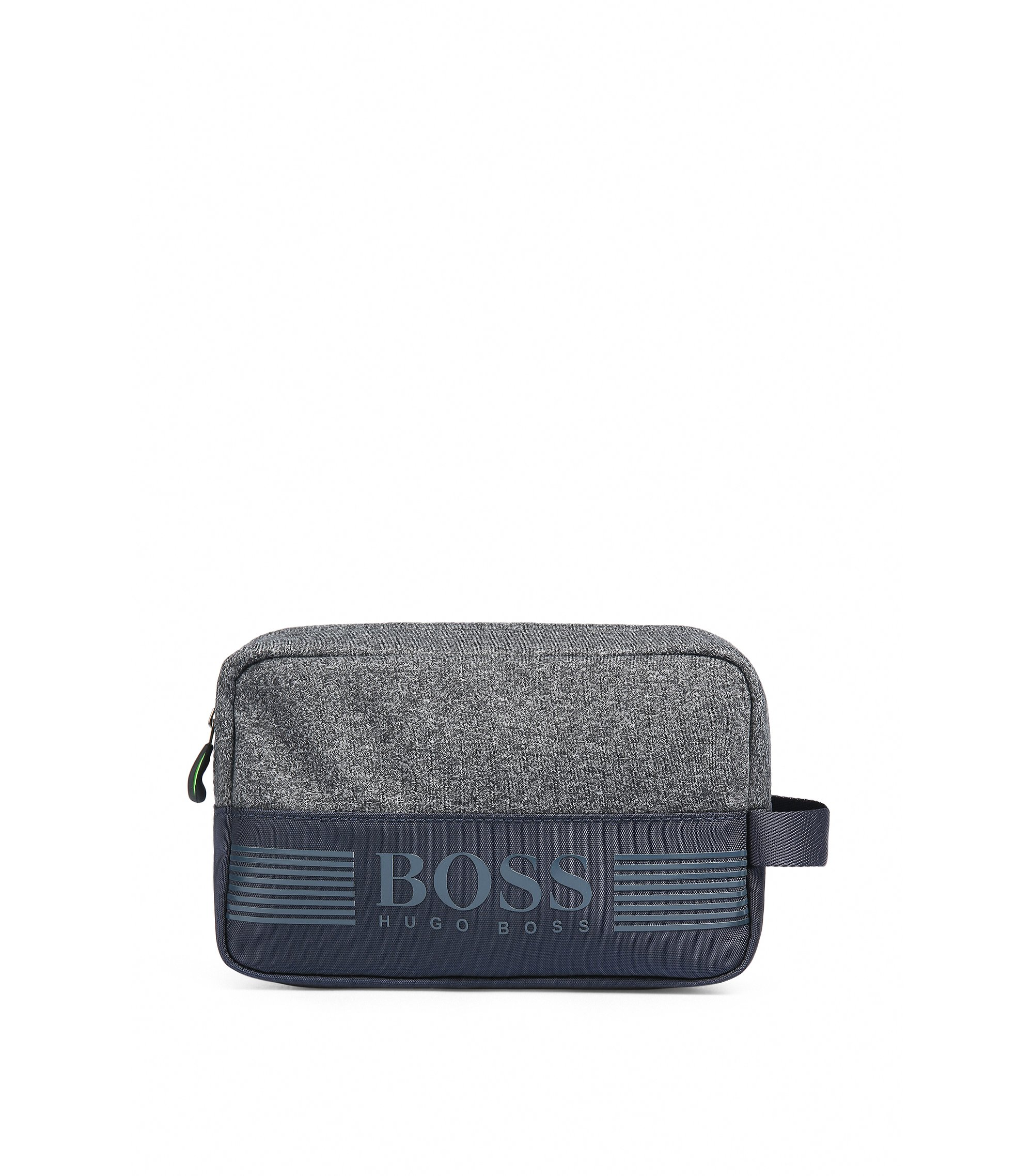 Washbag in jersey and technical fabric, Dark Blue