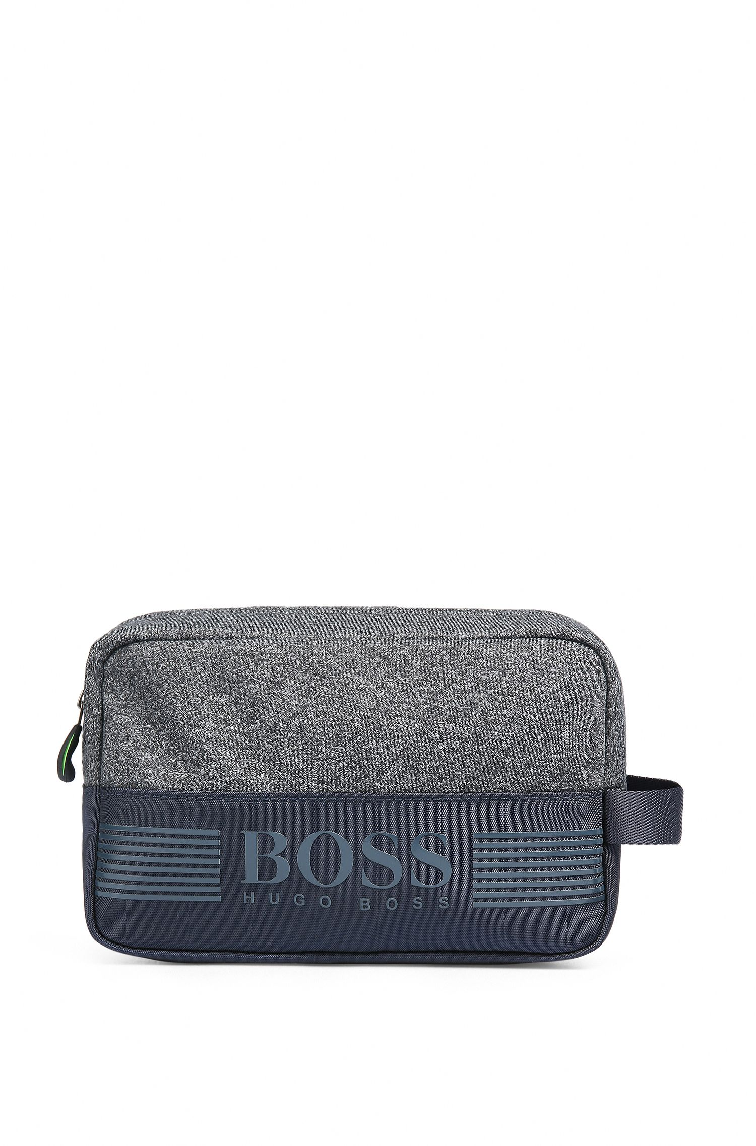 Washbag in jersey and technical fabric