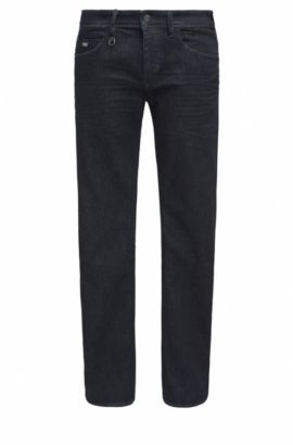 Slim-fit jeans van denim met extra stretch, Donkerblauw