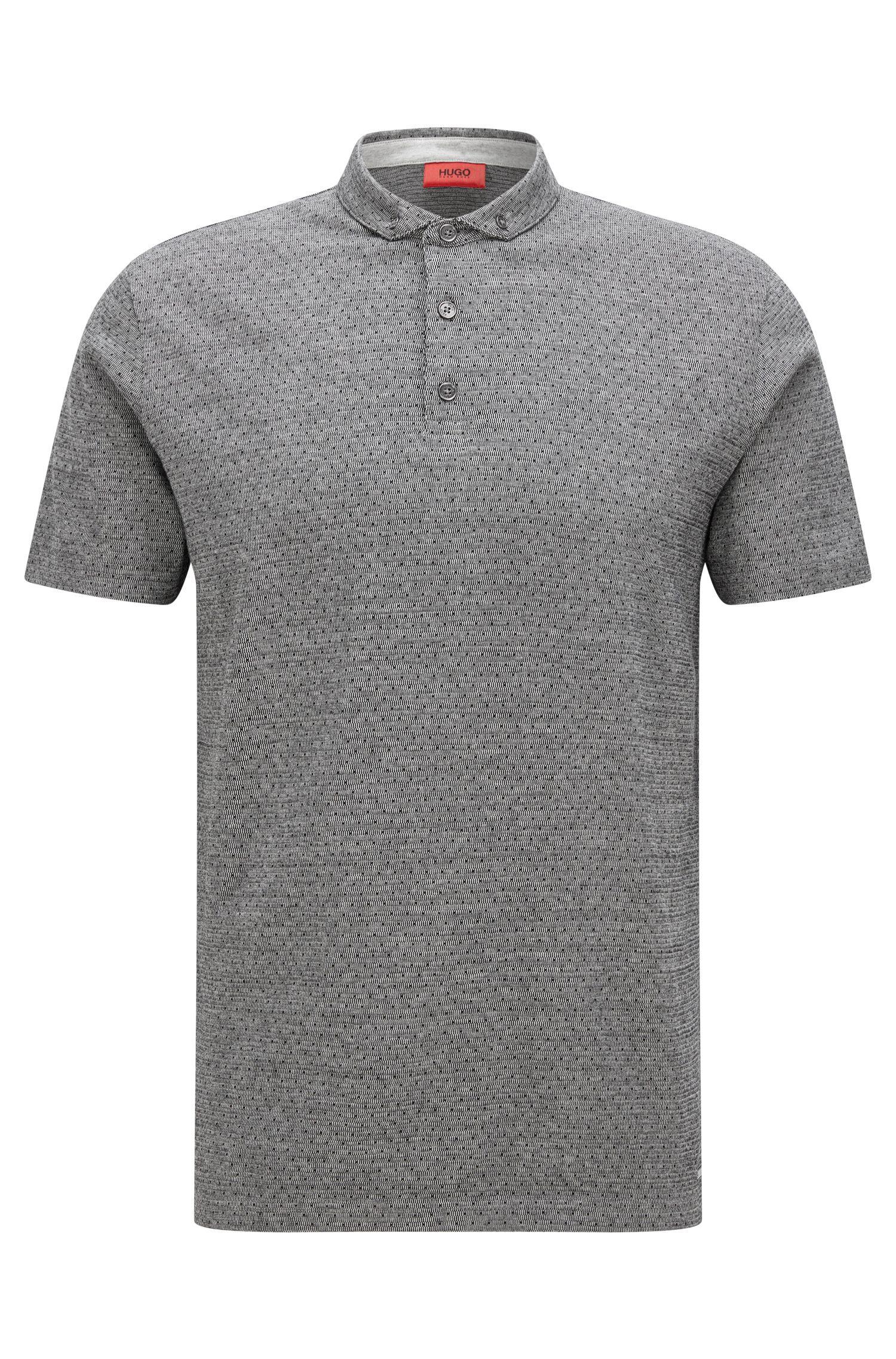Regular-fit polo shirt in mercerised jacquard