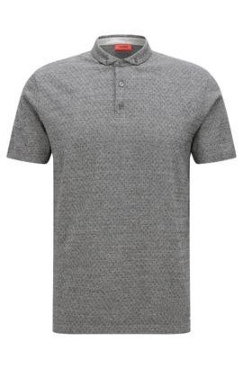 Regular-Fit Poloshirt aus merzerisierter Baumwolle , Dunkelgrau