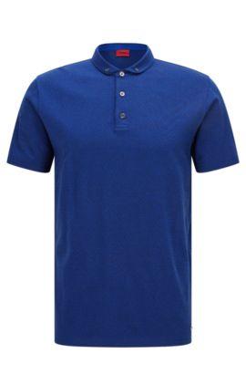 Regular-Fit Poloshirt aus merzerisierter Baumwolle , Hellblau