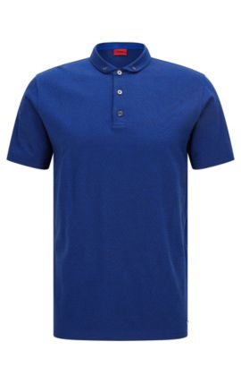 Polo regular fit in jacquard mercerizzato , Celeste