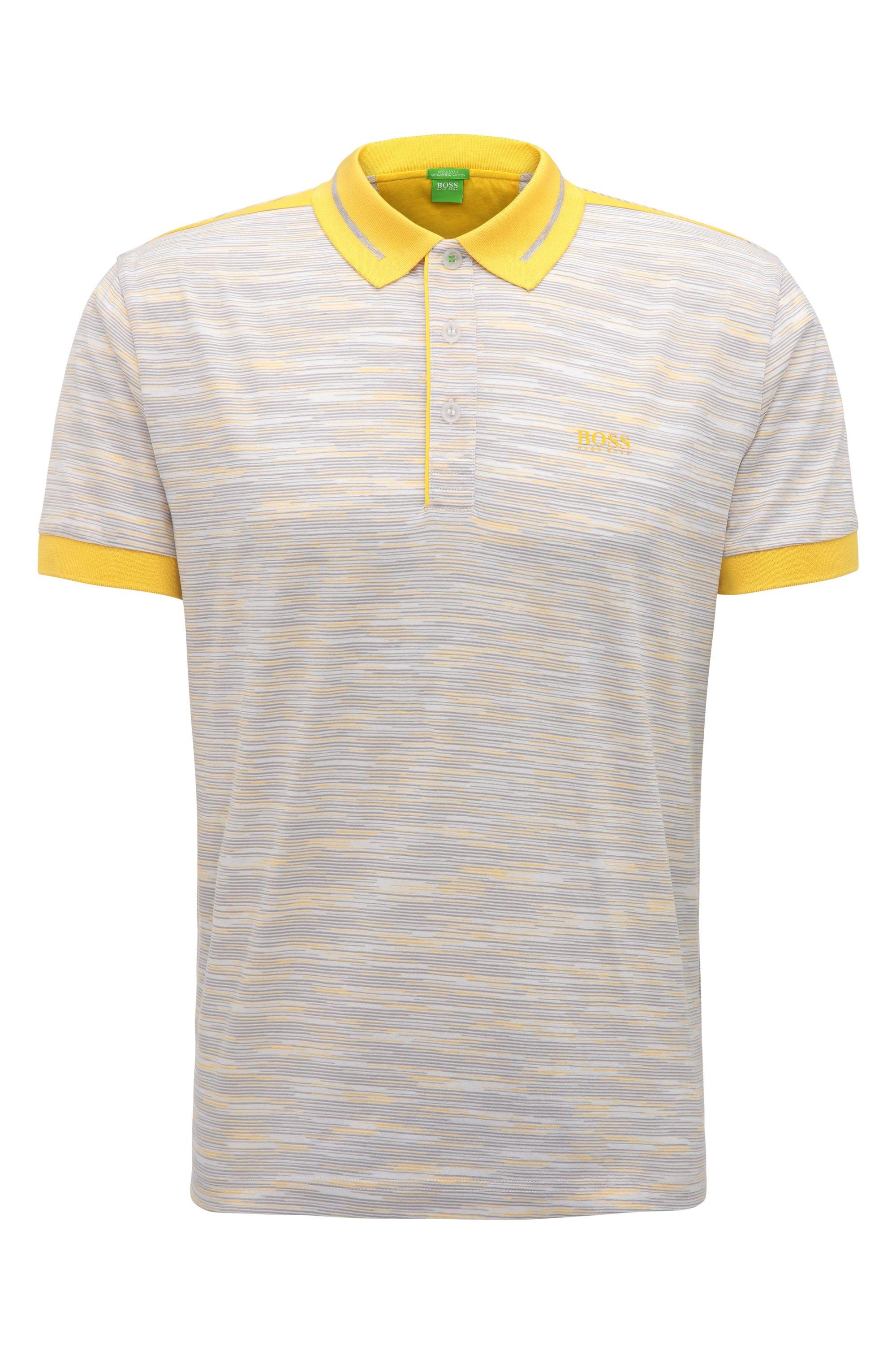 Regular-Fit Poloshirt aus merzerisierter Baumwolle, Weiß