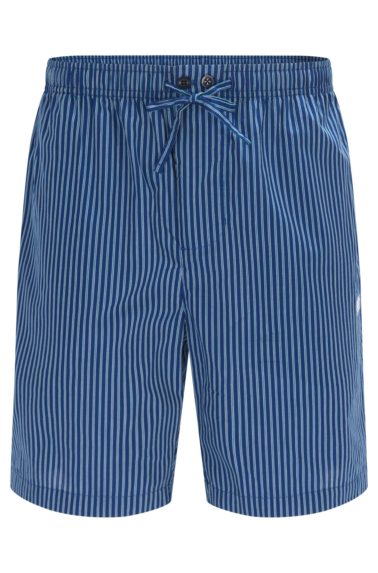 Gestreifte Pyjama-Shorts aus Baumwoll-Popeline