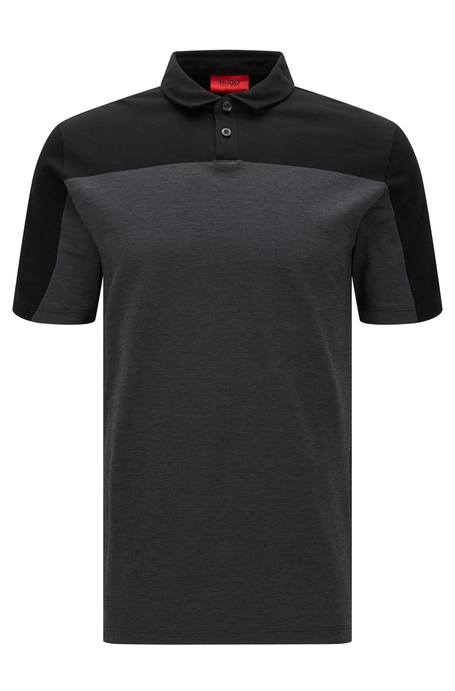 Slim-fit polo shirt in mercerised piqué cotton