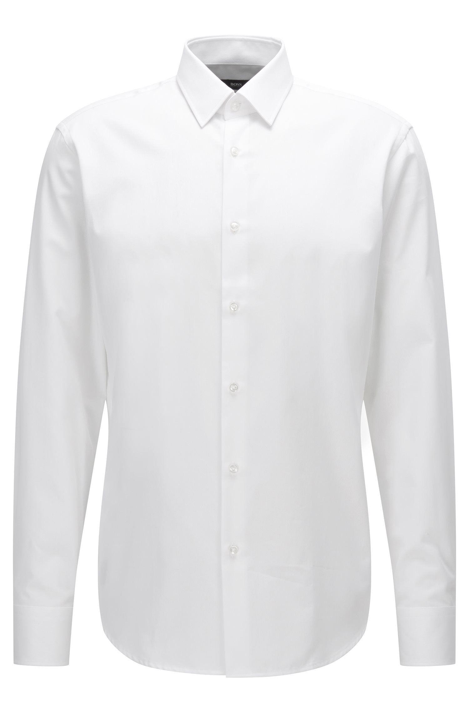 Regular-fit overhemd van katoen met microdessin