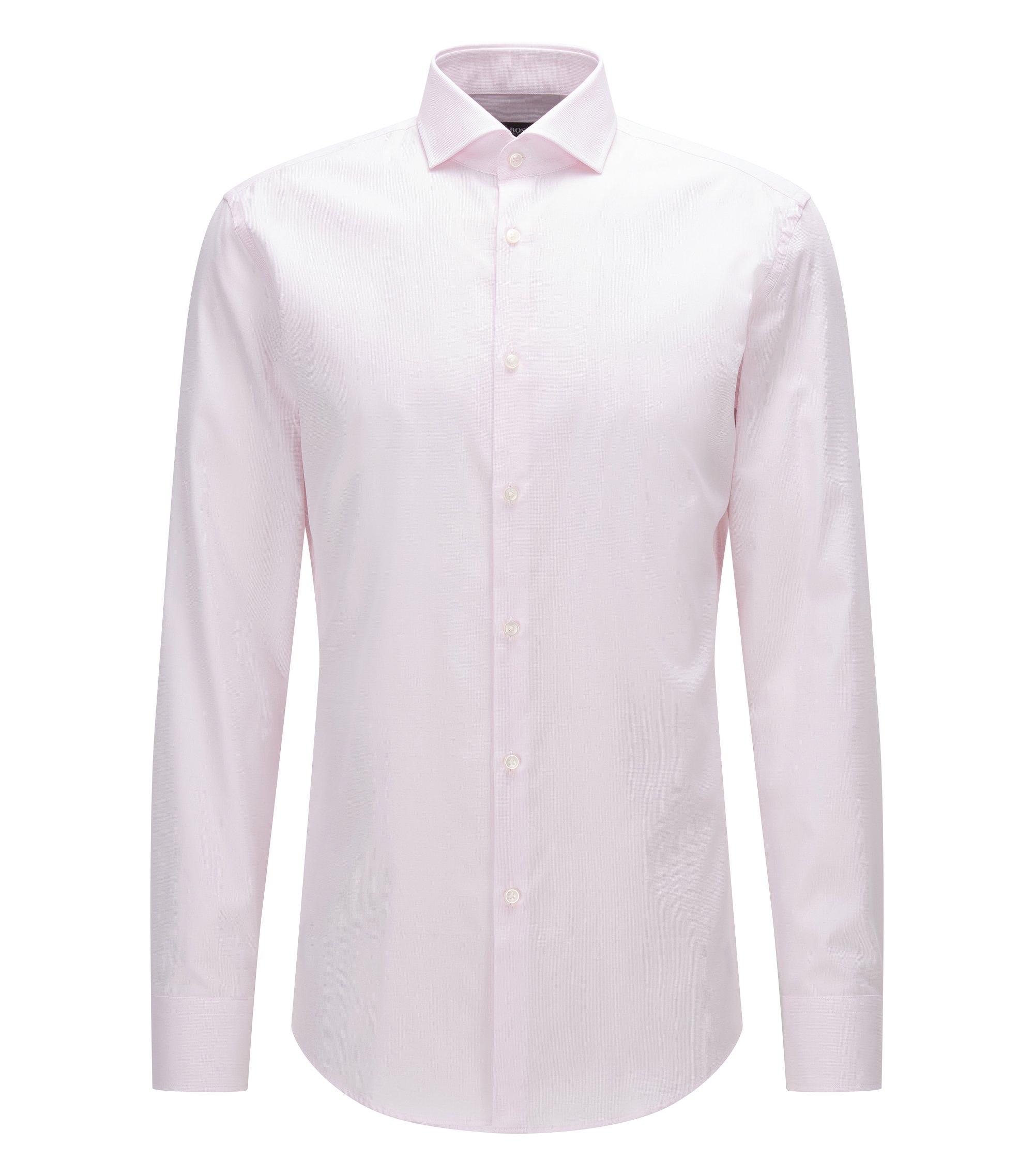 Slim-fit overhemd van katoen met gespreide kraag, Lichtroze