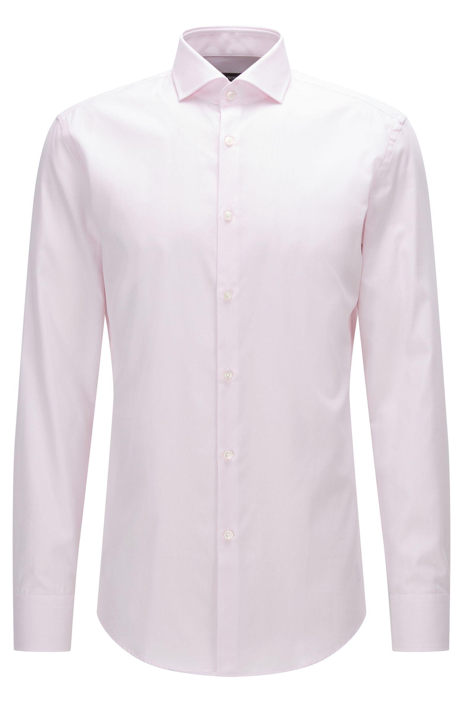 Slim-fit overhemd van katoen met gespreide kraag