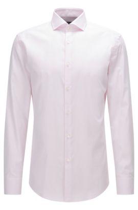 Camicia slim fit in cotone con colletto alla francese, Rosa chiaro