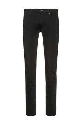Skinny-Fit Jeans aus Stretch-Denim mit coldblack® Technologie, Schwarz