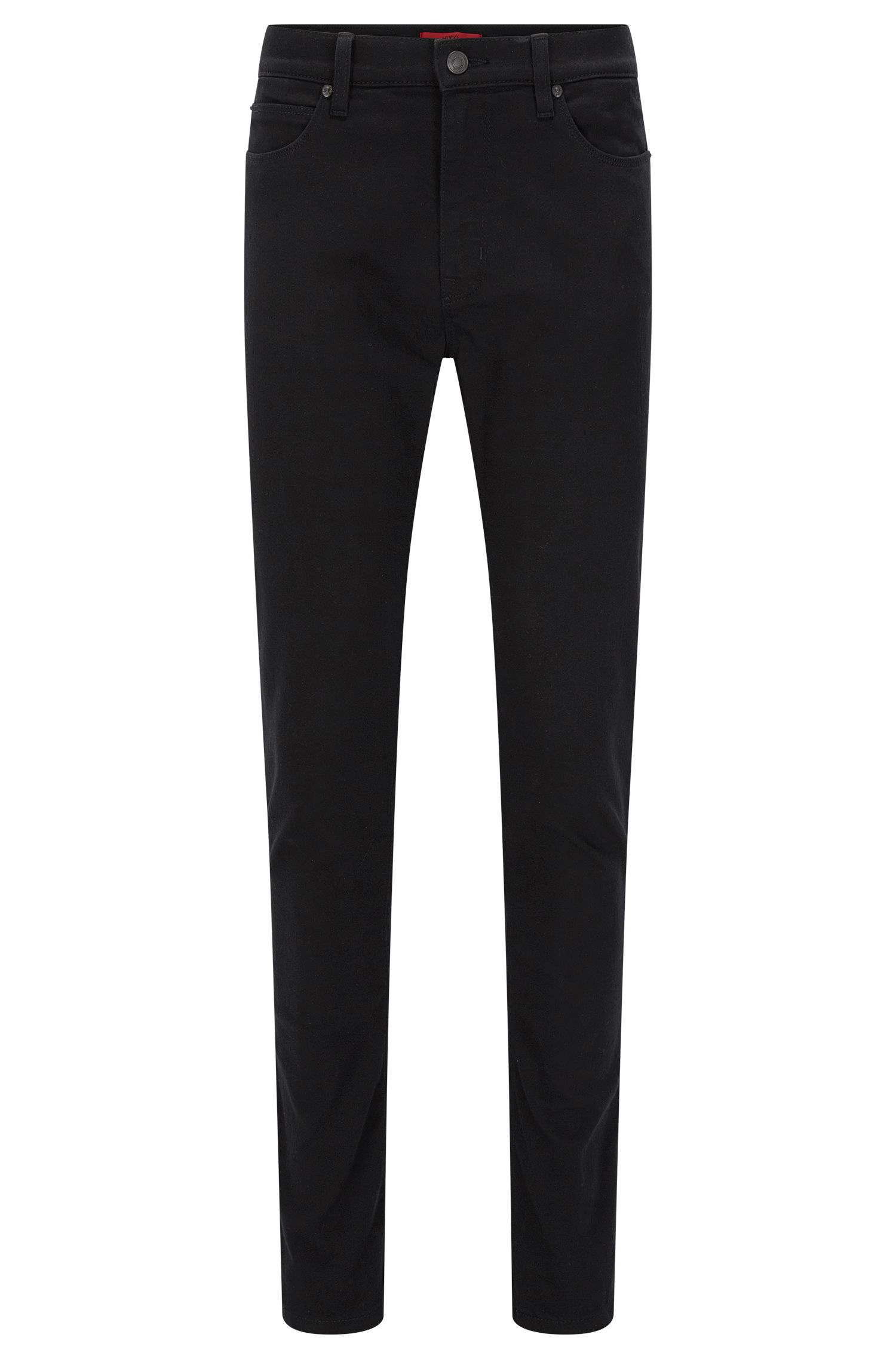 Skinny-fit jeans in coldblack® stretch denim, Black
