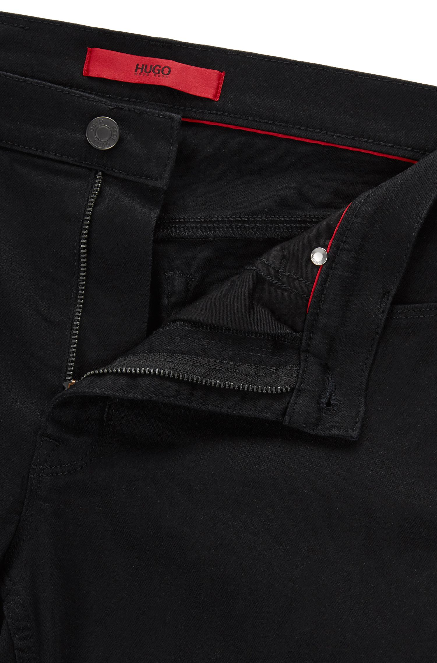 Jeans skinny fit in denim elasticizzato coldblack®, Nero