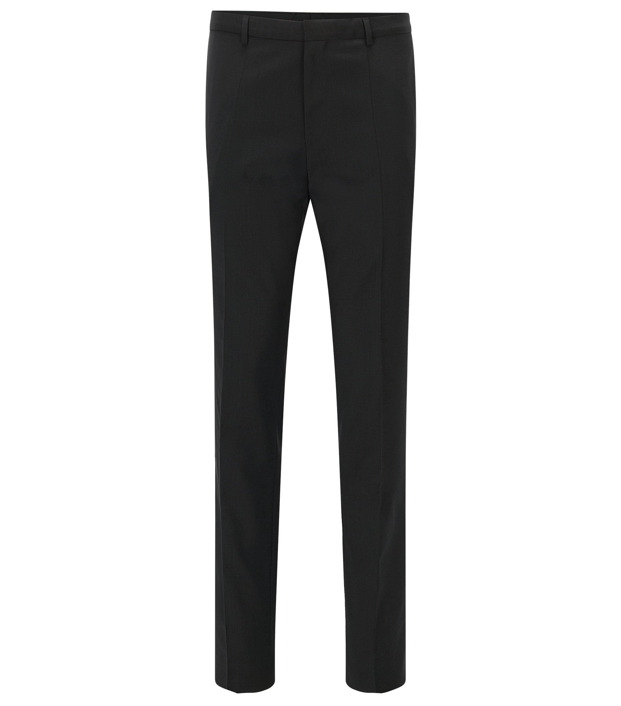 Extra slim-fit broek van scheerwol van HUGO Man, Zwart