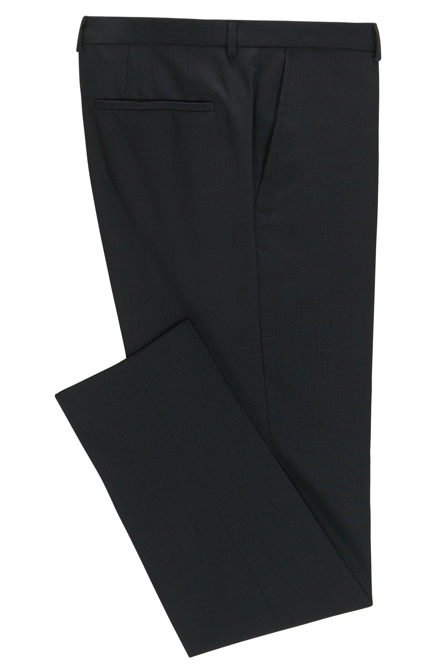 Pantalon HUGO Homme Extra Slim Fit en laine vierge, Gris sombre