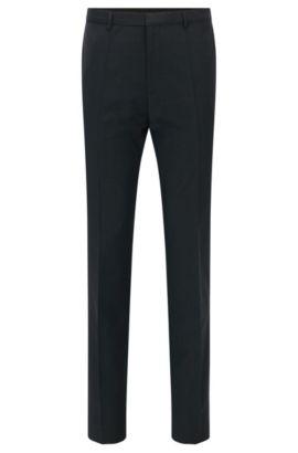 Extra slim-fit broek van scheerwol van HUGO Man, Donkergrijs