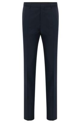 Pantalon HUGO Homme Extra Slim Fit en laine vierge, Bleu foncé
