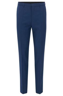 Pantaloni extra slim fit in lana vergine HUGO Uomo, Blu