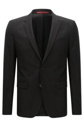 Veste de costume Extra Slim Fit en laine vierge, Noir