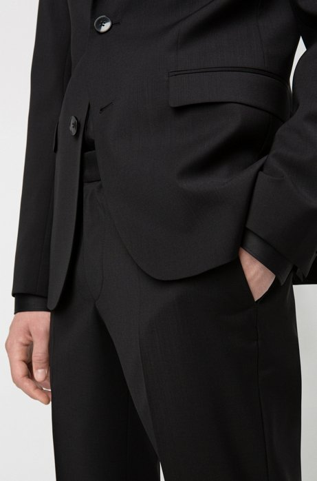 Veste Extra Slim Fit en laine vierge à f