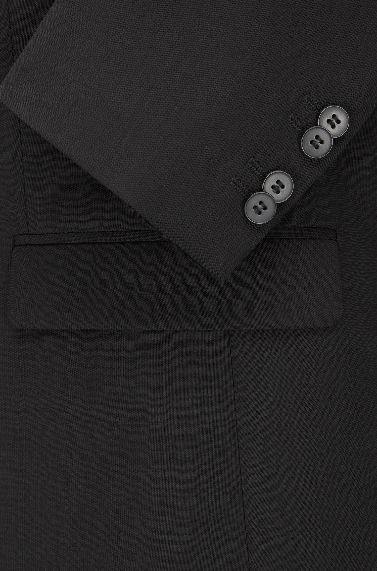 Extra-slim-fit suit jacket in virgin wool