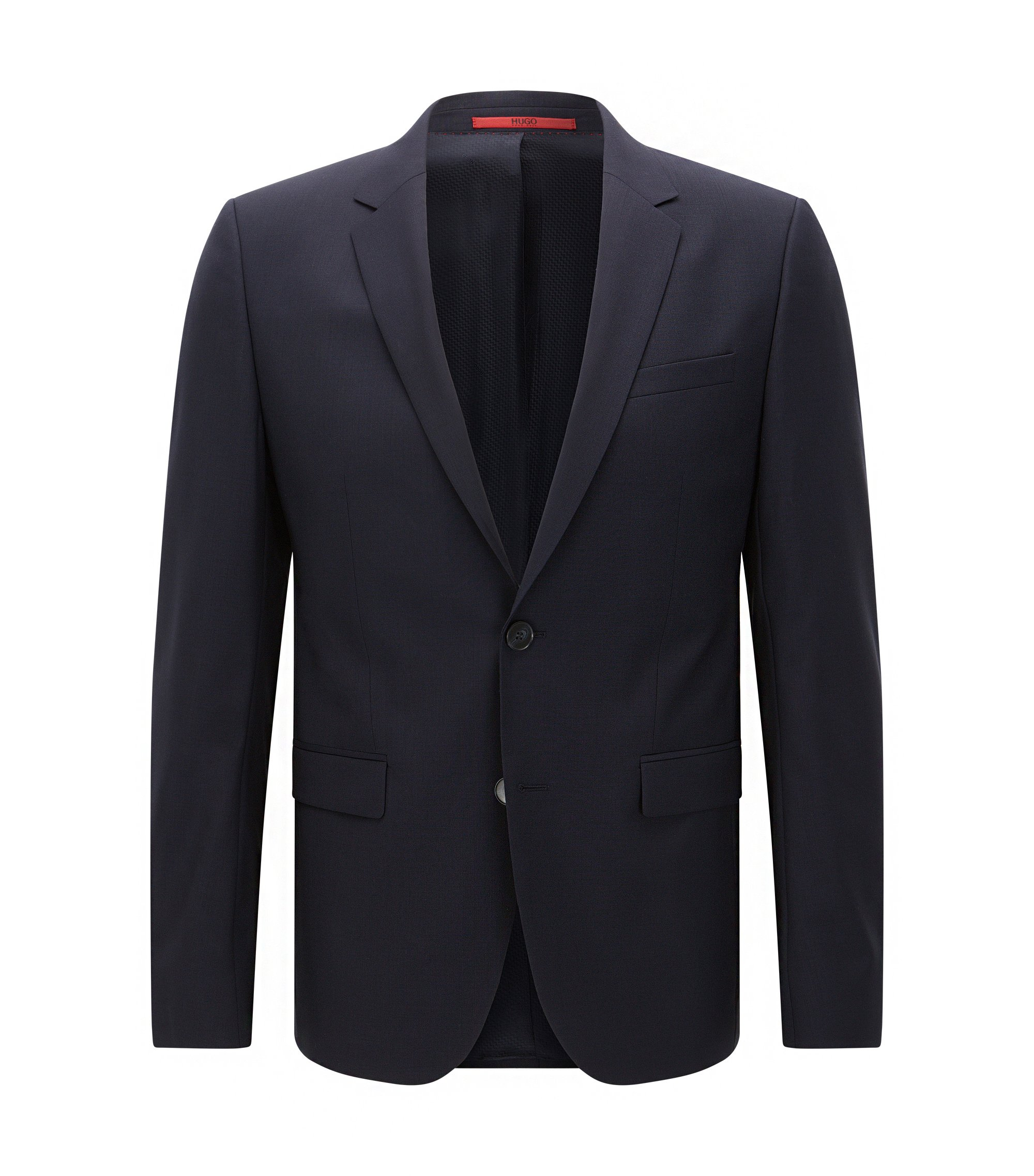 Extra-slim-fit suit jacket in virgin wool , Dark Blue