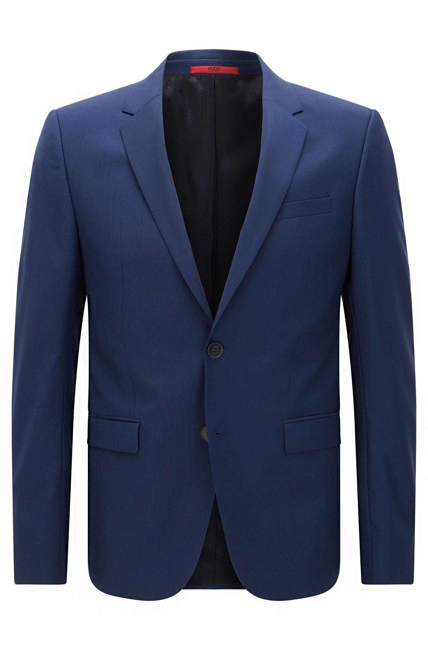 Extra-slim-fit suit jacket in virgin wool , Blue
