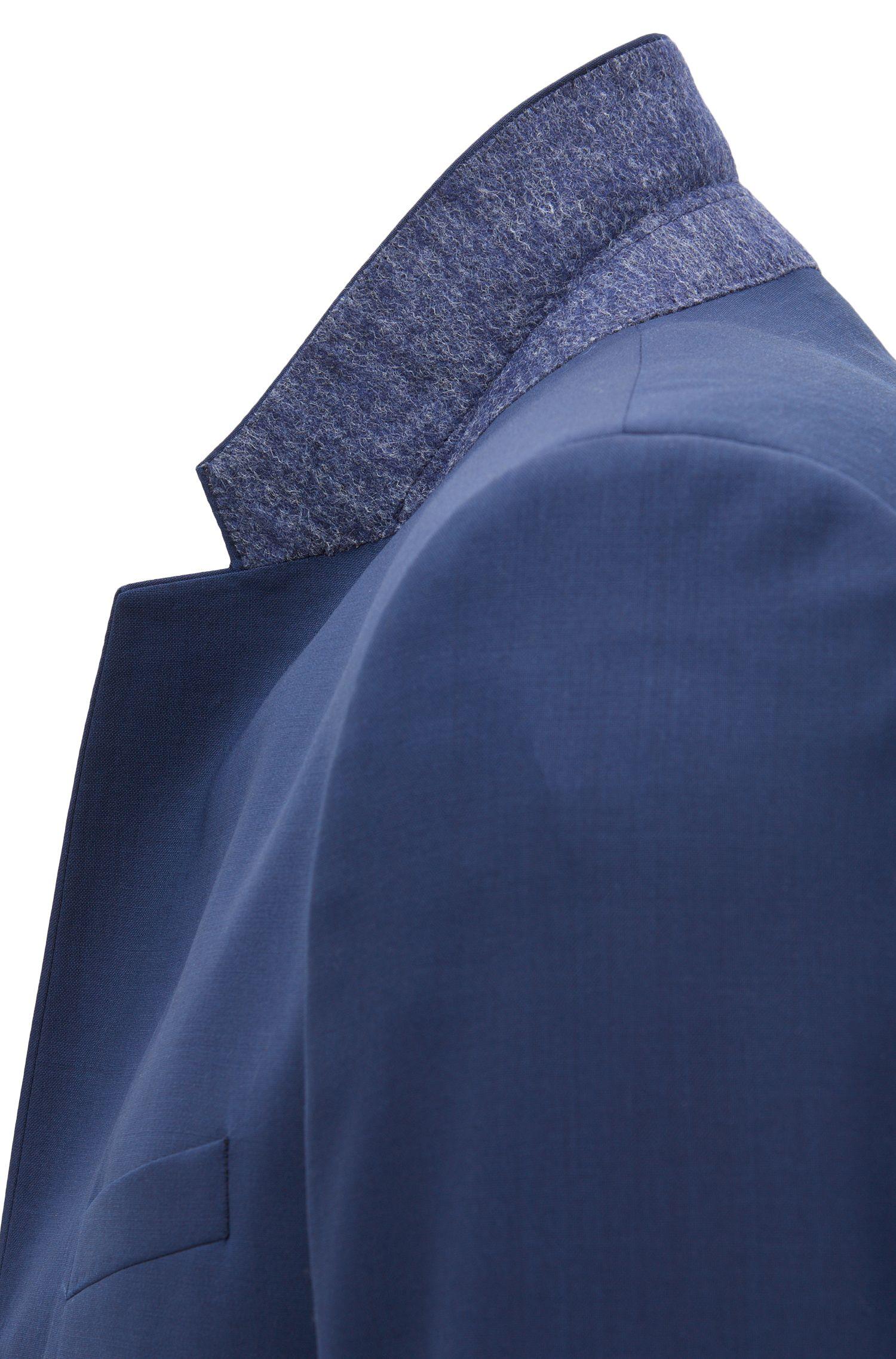 Giacca extra slim fit in lana vergine , Blu