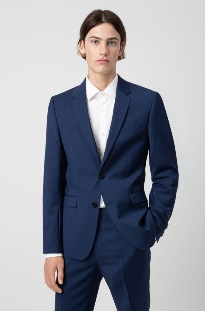 Extra-slim-fit virgin-wool jacket with natural stretch