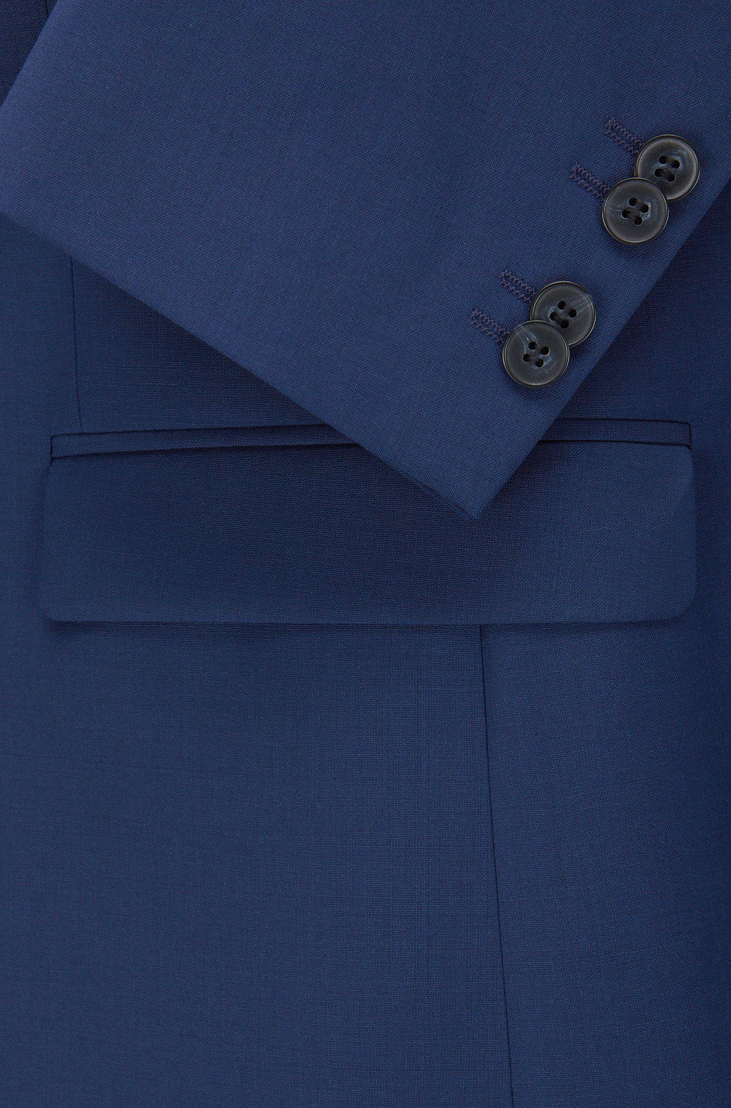 Extra Slim-Fit Sakko aus Schurwolle , Blau