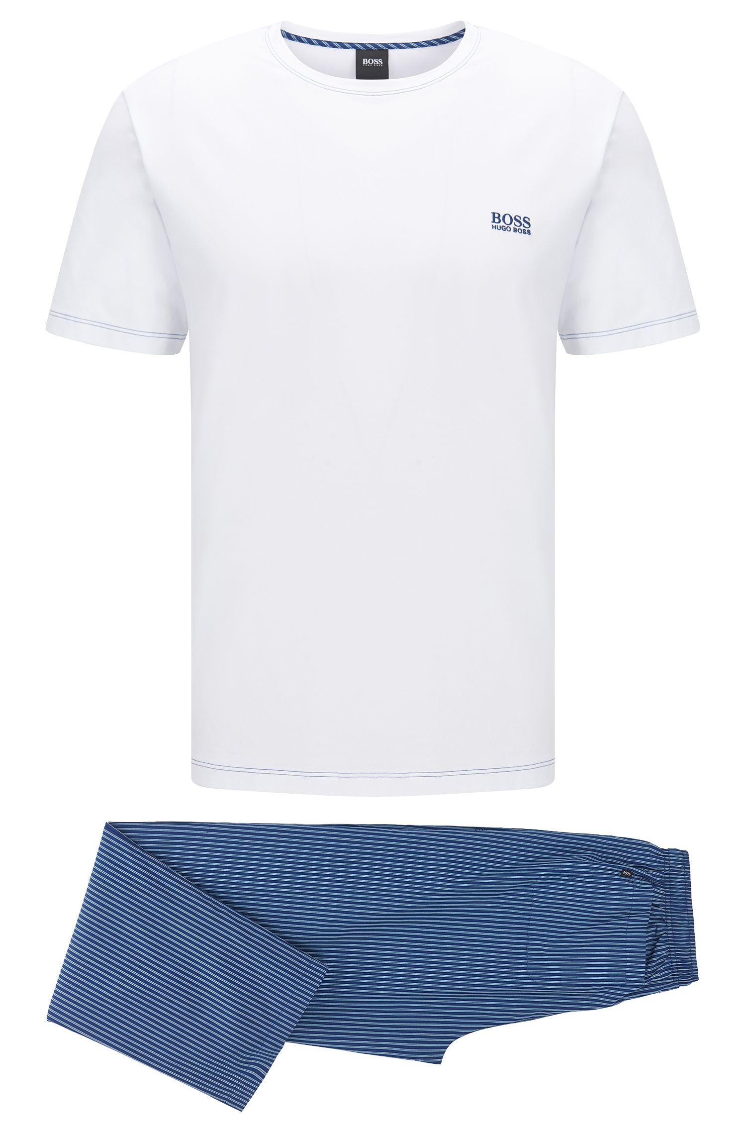 Regular-fit pyjamaset van lichte katoen