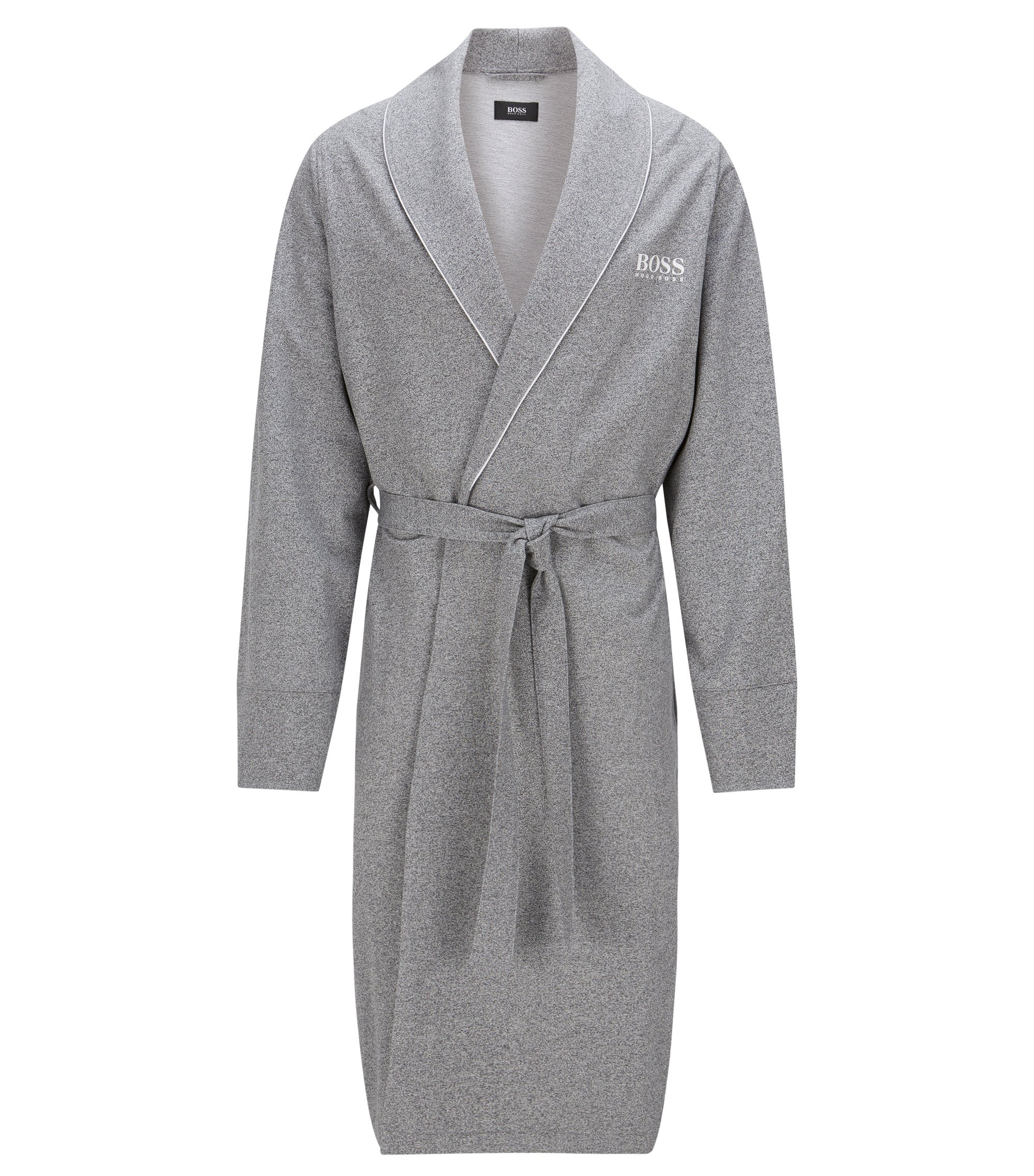 Lightweight dressing gown in French terry, Anthracite