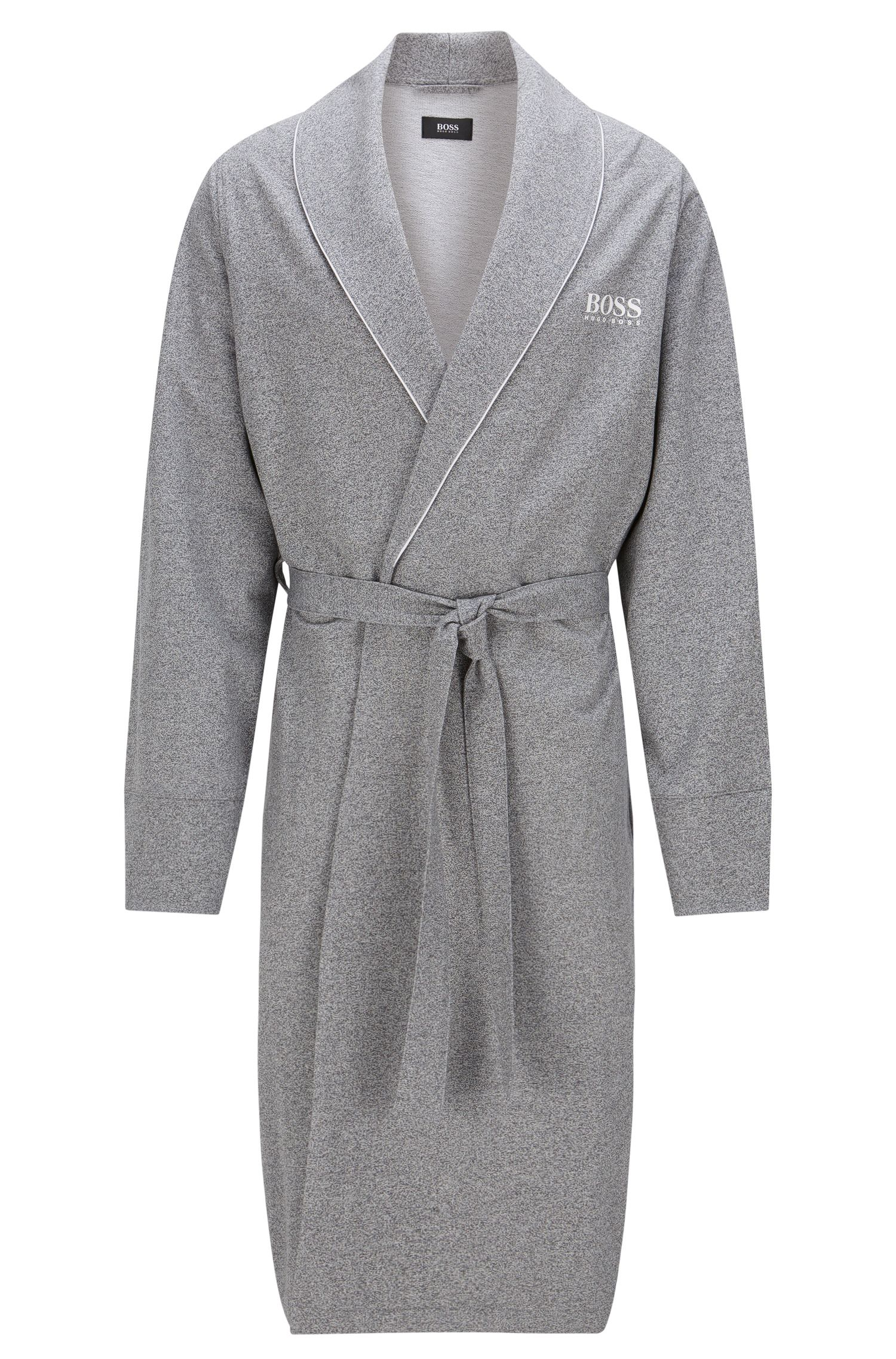 Lightweight dressing gown in French terry