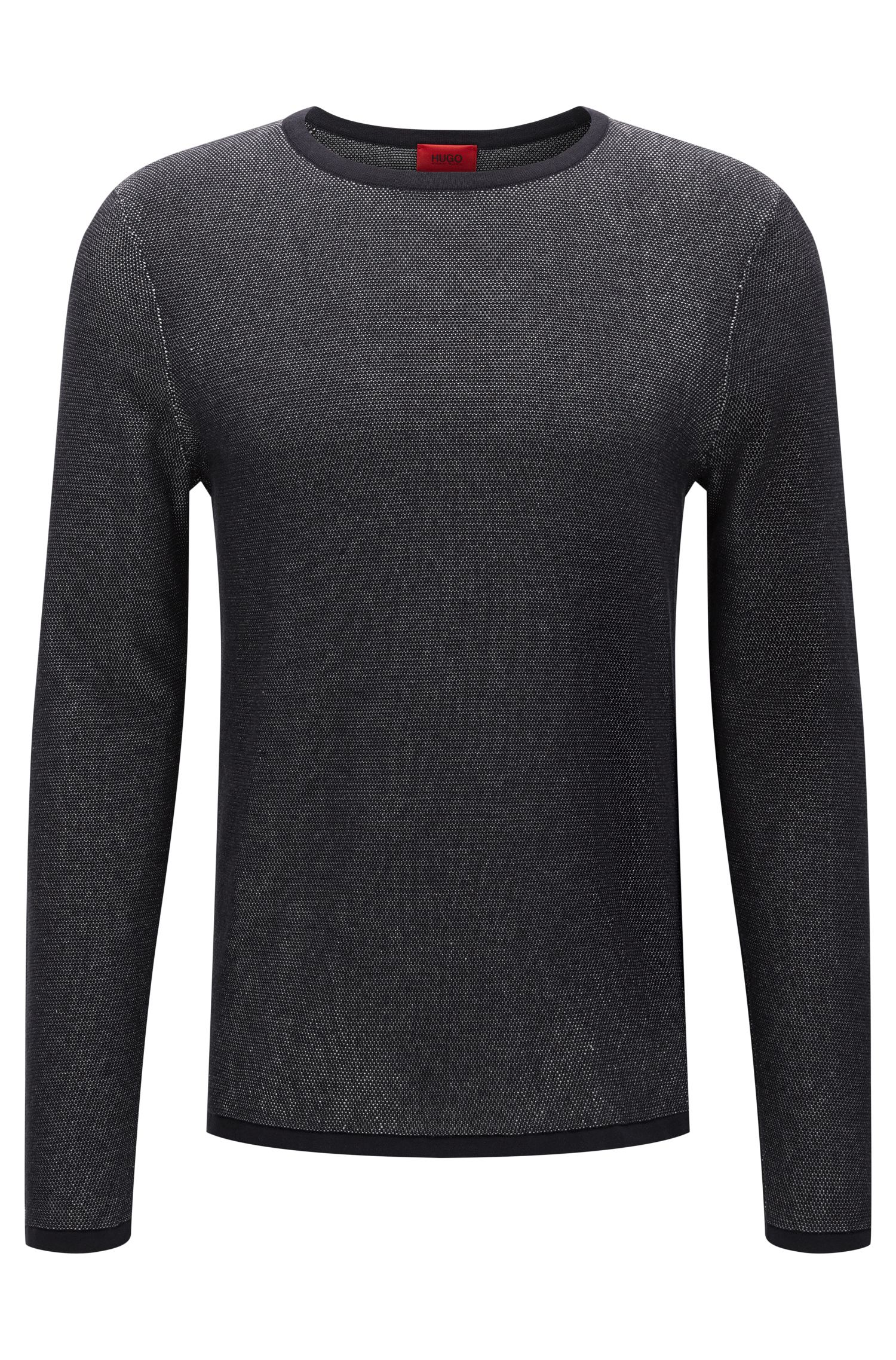 Relaxed-fit sweater in two-tone piqué
