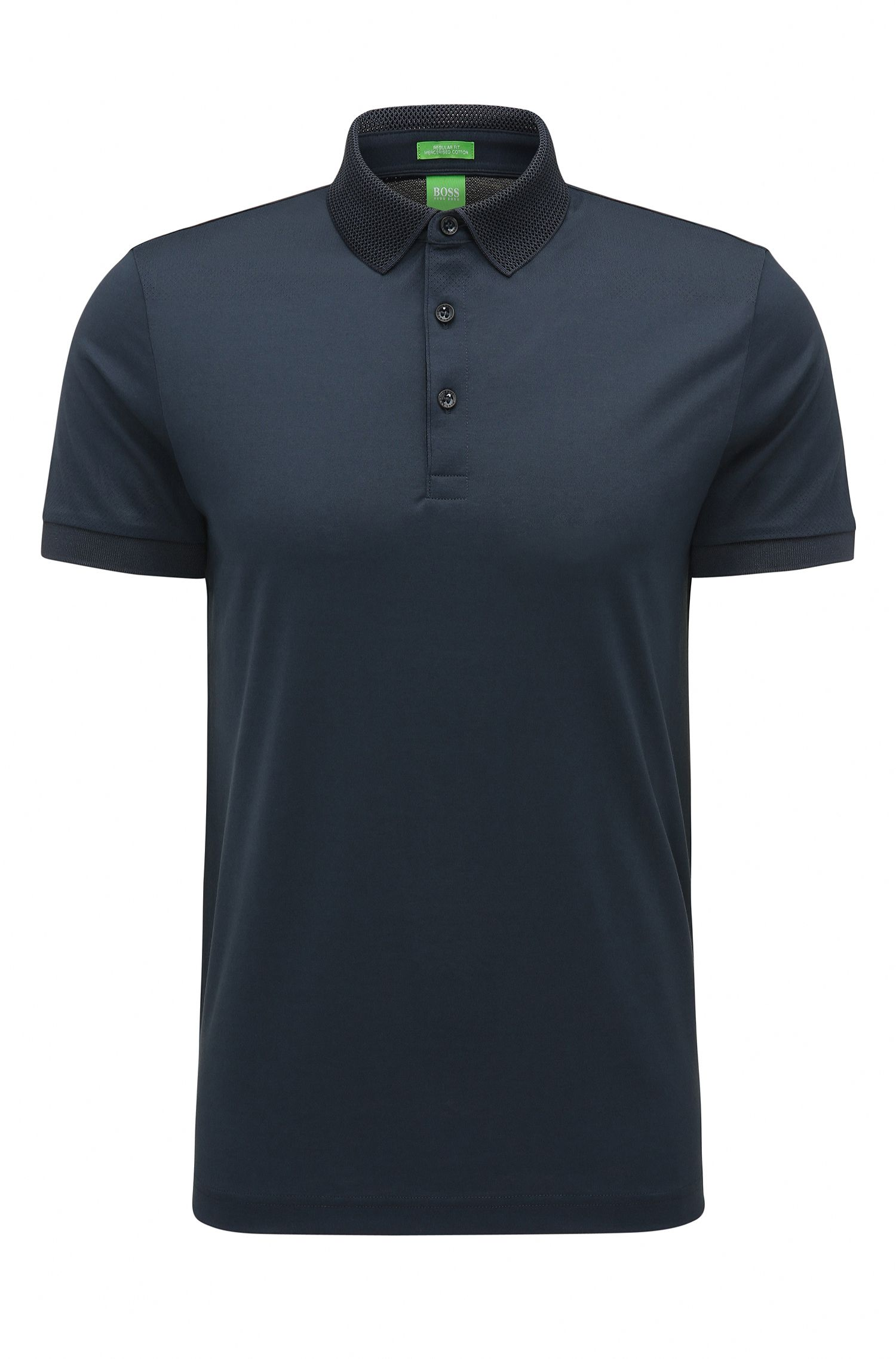Regular-fit polo shirt in mercerised cotton