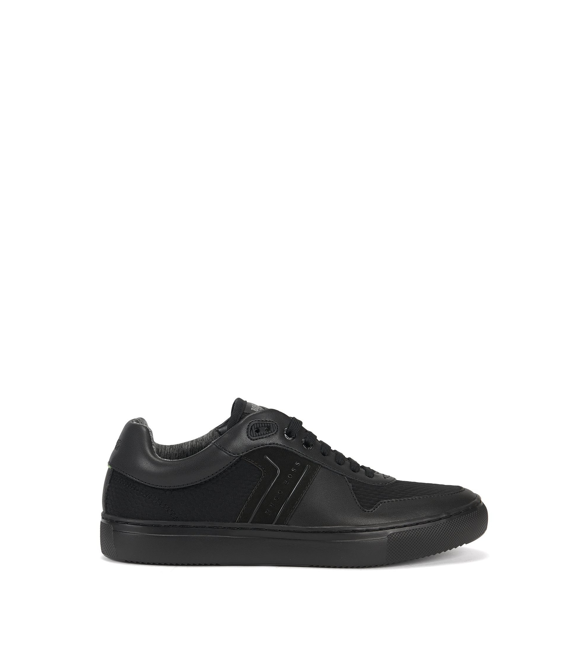 Tennis-style trainers with Strobel construction, Black