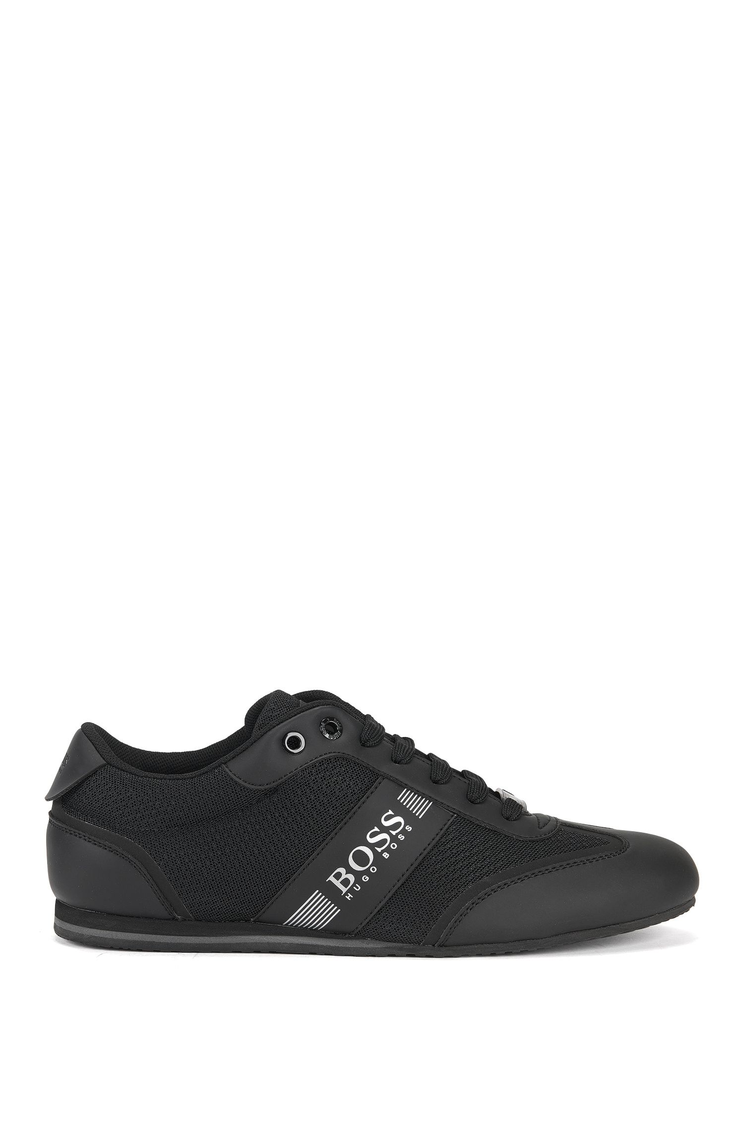 Lace-up trainers with mesh detail