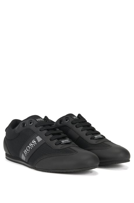 Lace-up trainers with mesh detail BOSS For Sale Cheap Real xaFAocK