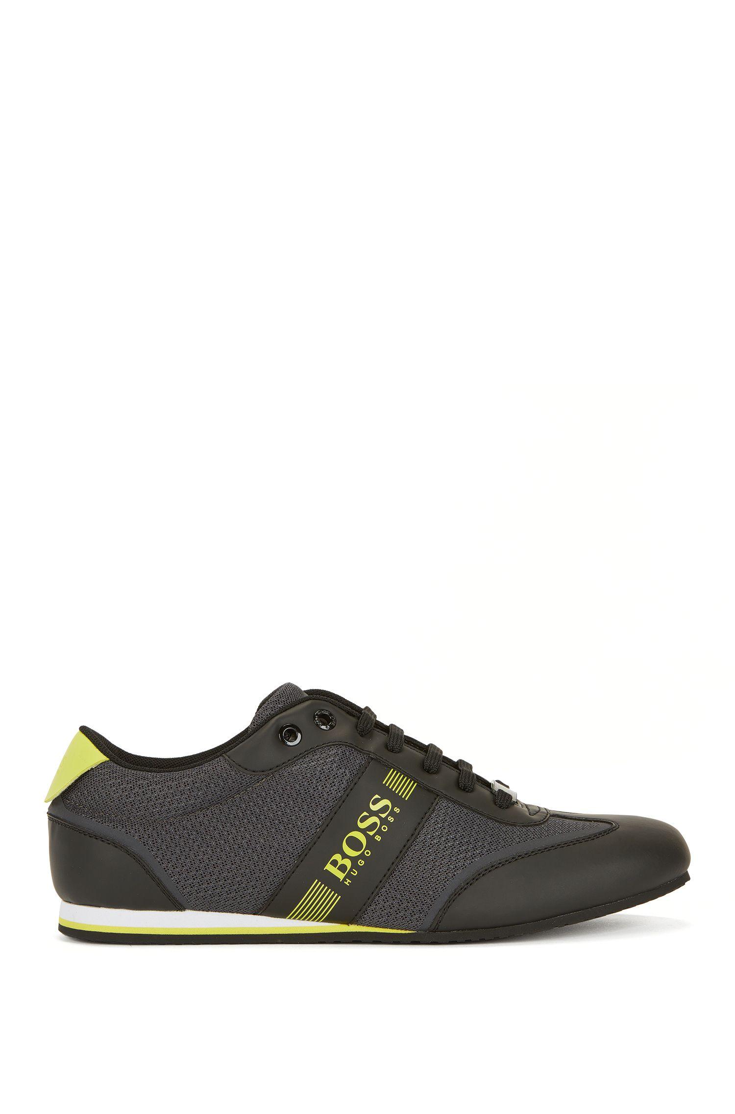 Sneakers stringate con dettaglio in rete