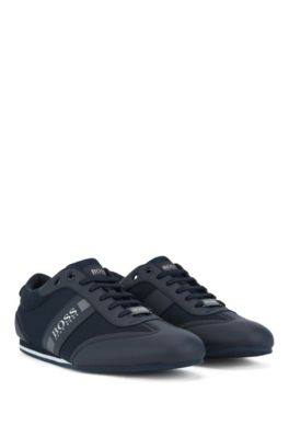 f067ea7944d59 Lace-up trainers with mesh detail